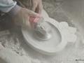 Proses Pembuatan Cobek Hello Kitty dari Batu Gunung Merapi Asli
