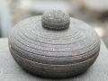Cobek Batu Merapi dengan Tutupnya Tampak Samping Tertutup