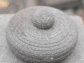Cobek Batu Merapi dengan Tutupnya Tampak Atas Tertutup
