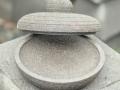 Cobek Batu Merapi dengan Tutupnya Tampak Depan
