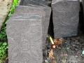 Relief Ukiran Bunga Batu Alam Merapi