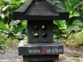 Lampion Pagar Batu Alam Merapi T50 A30 Tampak Sisi 4 Jendela Kotak