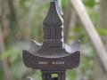 Lampion Pagoda Tingkat 2 Batu Alam Merapi Puncak dan Atap Atas