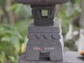 Lampion Pagoda Tingkat 2 Batu Alam Merapi Atap Bawah dan Kaki Dudukan
