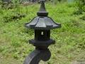 Lampion Rangkai Batu Alam Merapi Tampak Samping Atas