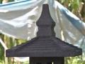 Lampion / Lampu Hias Taman Batu Alam Merapi Tampak Atap dan Puncak