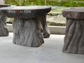 Meja dan Kursi Batu Alam Merapi Ukiran Natural Pohon Beringin