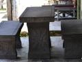 Meja Kursi Batu Alam Gunung Merapi Ukiran Bunga