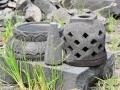 Miniatur Stupa Candi Borobudur dari Batu Alam Merapi
