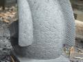 Patung Ikan Koi Batu Alam Merapi Tampak Belakang