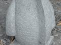 Patung Ikan Koi Batu Alam Merapi Tampak Belakang Sirip