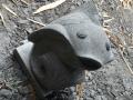 Patung Ikan Koi Batu Alam Merapi Tampak Atas Depan