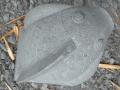Patung Ikan Koi Batu Alam Merapi Tampak Atas Belakang Sirip