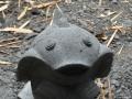 Patung Ikan Koi Batu Alam Merapi Tampak Atas Depan Mata Mulut Sirip