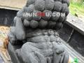 Patung Samsi (Singa) Batu Alam / Candi Tampak Belakang Kiri