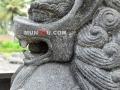 Patung Samsi (Singa) Batu Alam / Candi Tampak Muka Wajah Mulut Bola