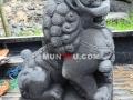 Patung Samsi (Singa) Batu Alam / Candi Tampak Samping Kiri