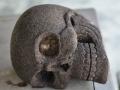 Patung Tengkorak Kepala / Skull Statue Lava Stone Batu Andesit Gunung Merapi