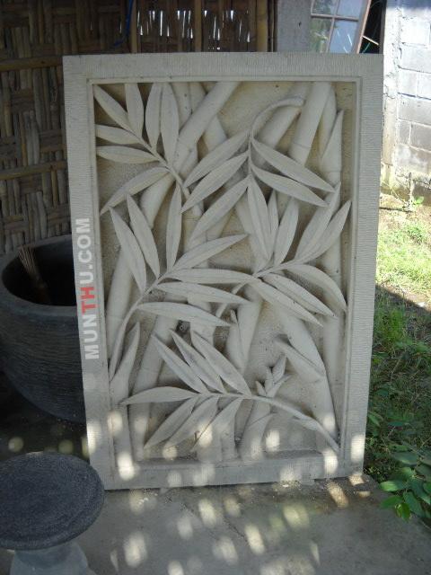 Seni Pahat Relief Dinding Ornamen Ukiran Batu Putih Kapur