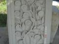 Relief Dinding Batu Putih Motif Ornamen Bunga Matahari 2