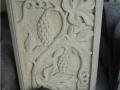 Relief Dinding Batu Putih Motif Ornamen Buah Anggur 2