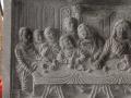Relief Perjamuan Terakhir Batu Candi Tampak Depan Kiri