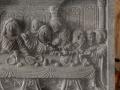 Relief Perjamuan Terakhir Batu Candi Tampak Depan