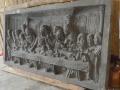 Relief Perjamuan Terakhir Batu Candi Tampak Samping Kanan