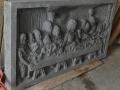 Relief Perjamuan Terakhir Batu Candi Tampak Samping Kiri
