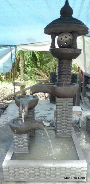 Air Mancur Tingkat 3 Tinggi 170cm Luas: 80cm x 80cm