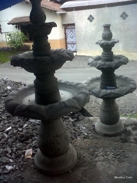 Air Mancur Teratai dari Batu Candi D:80cm T:170cm