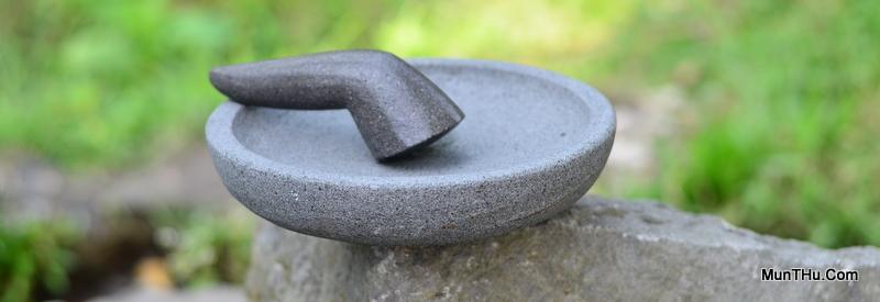 Cobek Batu Gunung Merapi Kualitas Istimewa