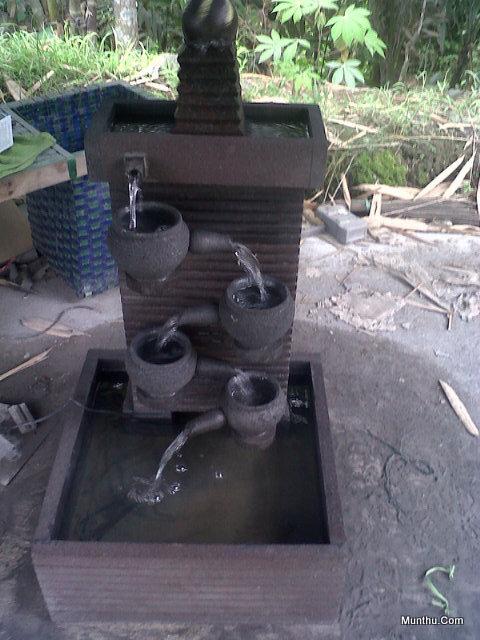 Seni Kerajinan Batu: Kolam Air Mancur Kendi Tingkat 4