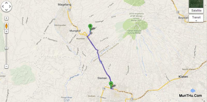 Peta Lokasi Dusun Sewan - Sentra Pengrajin Batu Andesit Merapi