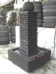 Air Mancur Cagak / Tiang Motif Garis