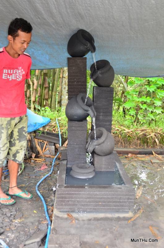 Jual Air Mancur Batu Candi 5 Kendi 4 Tingkat