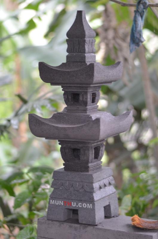 Lampion Pagoda Batu Alam Merapi Tingkat 2 T70 LA25x25
