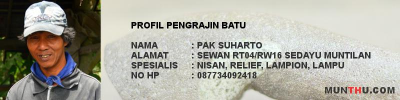 Pusara / Nisan Makam Batu Alam Bentuk Maesan Plisir (Kijing)
