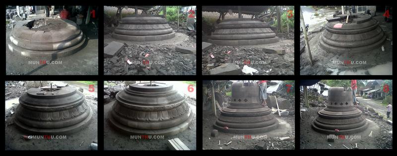Pembuatan Stupa Candi Borobudur Seni Pahat Batu Alam Merapi