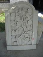 Relief Dinding Bunga Matahari Batu Putih