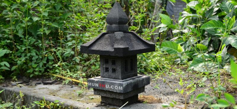 Lampion Pagar / Pilar Batu Alam Merapi K30 T50