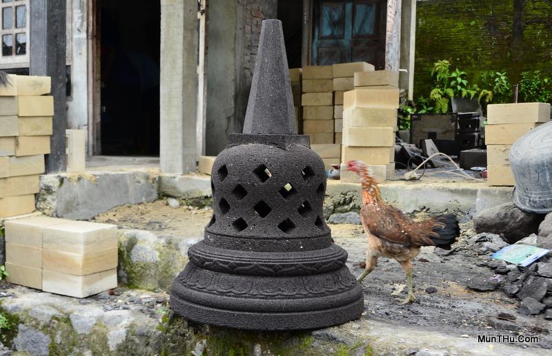 Versi 3 Miniatur Stupa Candi Borobudur Batu Alam Gunung Merapi