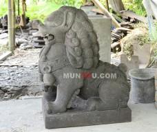 Patung Singa Samsi Batu Alam (Batu Candi) Gunung Merapi
