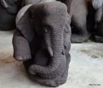 Patung Gajah Duduk Batu Andesit / Candi Gunung Merapi (Elephant Statue Lava Stone)
