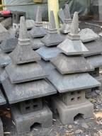 Lampion Atap Tingkat 3 Batu Candi / Alam Gunung Merapi