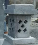 Lampion Tiang Minimalis Kotak Batu Candi