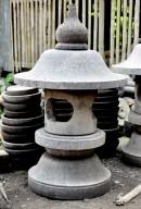 Lampion Bulat Bolong Batu Alam Merapi