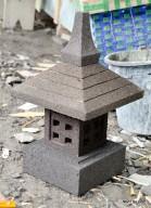 Lampion Lampu Atap Garis Batu Alam Merapi