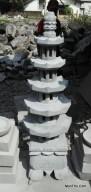 Lampion Pagoda Tingkat 5 Atap Segi 6 Batu Candi Andesit Merapi