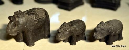 Miniatur Patung Gajah Cetakan Batu MN4